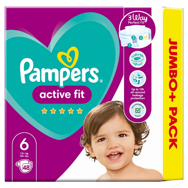 Pampers Active Fit Size 6 Nappies Jumbo+ Pack