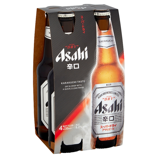Asahi Super Dry Beer 4 Pack