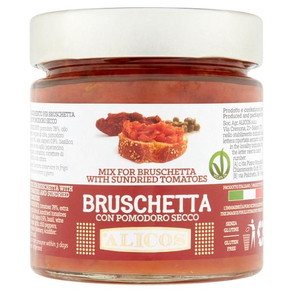 Alicos Bruschetta With Semi-dried Tomatoes (190 Grams)