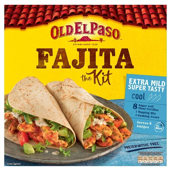 Old El Paso Extra Mild Fajita Kit