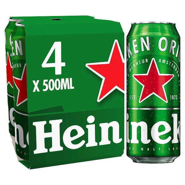 Heineken Lager Cans 4 Pack