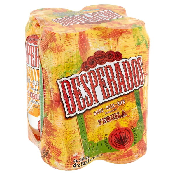 Desperados 4 Pack Can 500 Millilitre