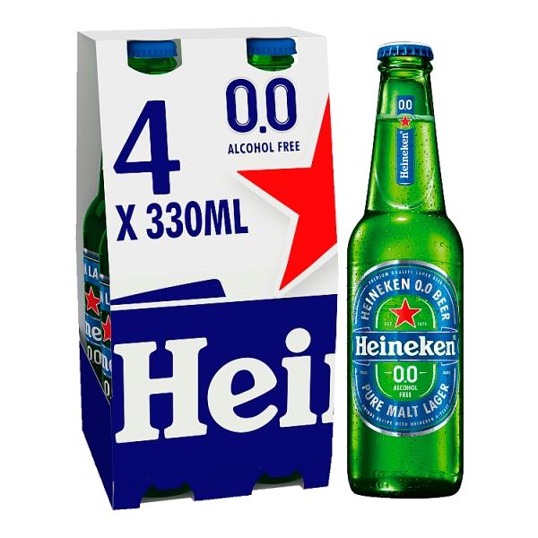 Heineken 0.0 Bottles 4 Pack