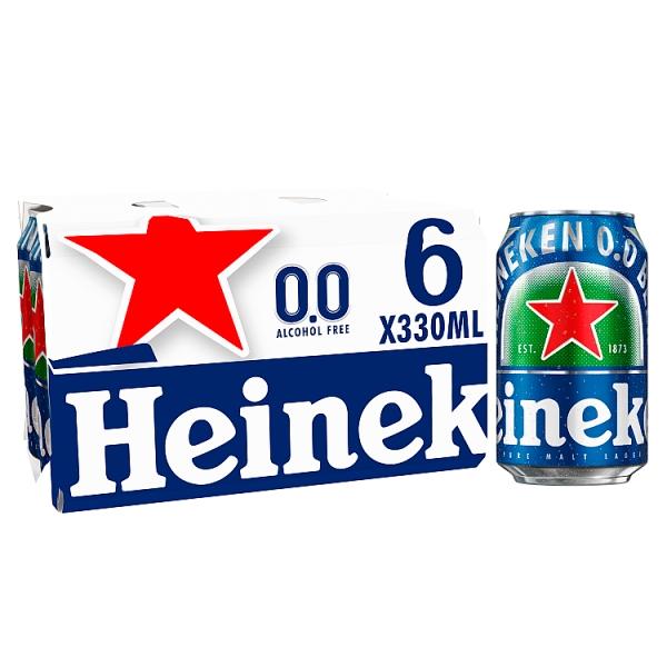 Heineken 0.0 Cans 6 Pack