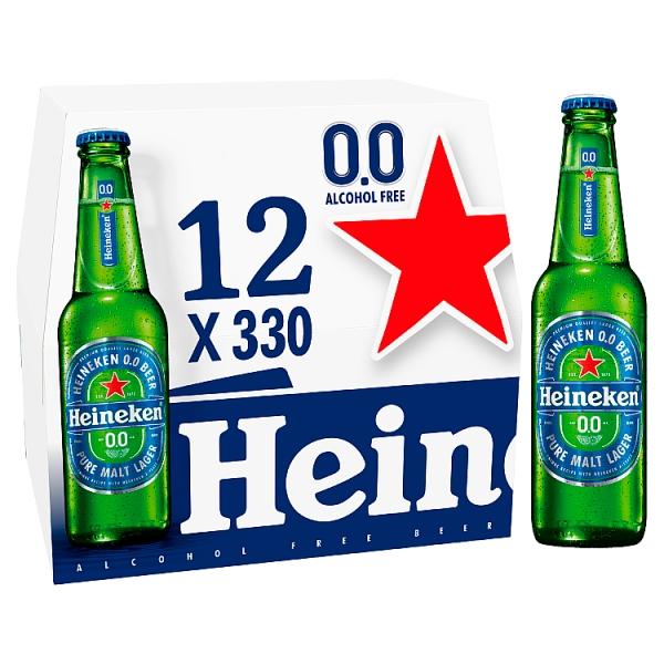 Heineken 0.0 Lager Bottles 12 Pack
