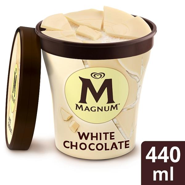 Magnum Vanilla Ice Cream with White Chocolate pieces