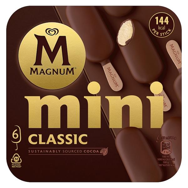 Magnum Mini Classic Ice Cream 6 Pack