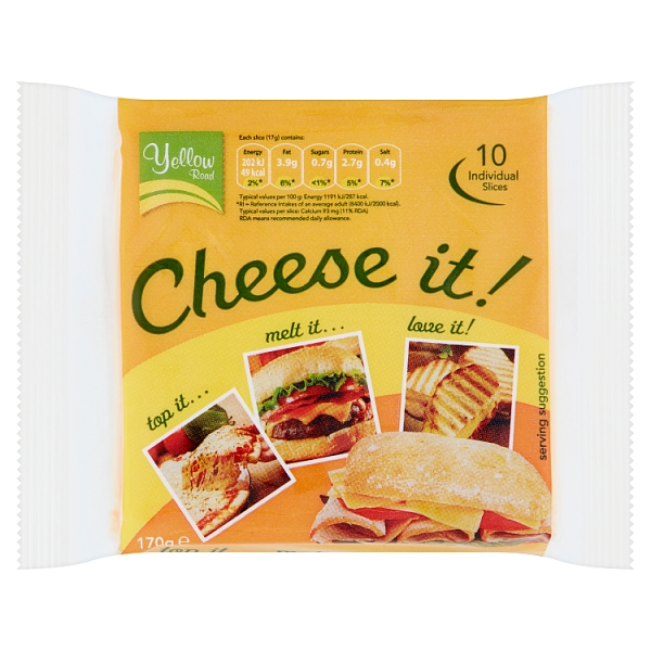Yellow Road Cheese It Slices 10 Pack