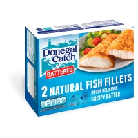 Donegal catch battered fish fillets 2 pack for Best frozen fish fillets